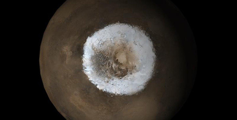 علماء يحلّون لغز جليد ثنائي أكسيد الكربون في قطب المريخ - علماء يحلّون لغز جليد ثنائي أكسيد الكربون في قطب المريخ