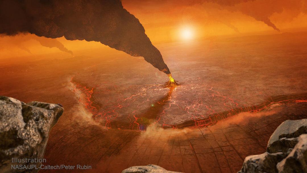 5f9aaaaf4c59b70cf53fb5eb - ناسا تنشر صورة مرعبة لثوران بركان على كوكب الزهرة!