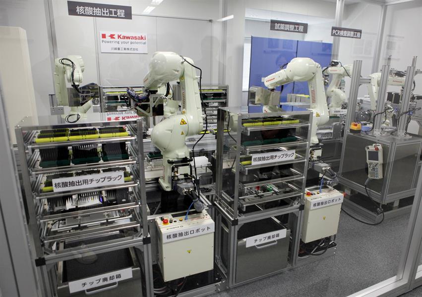 6d95e23e 243b 4c9c 81f8 b98340f68dbb - روبوت ياباني يجري مسحة كورونا ويعطي النتيجة في 80 دقيقة