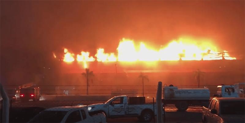 """٢٠٢١٠٢٠٨ ٠٩٢٢٥٥ - حريق يدمر جزءا من حلبة """"ترماس دي ريو هوندو"""" الدولية للسباقات في الأرجنتين.  #العبدلي_نيوز"""
