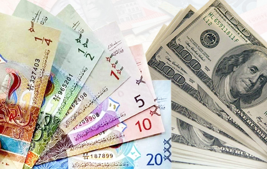 ٢٠٢١٠٢٢٣ ٠٩٤٥٣٨ - الدولار الأمريكي ينخفض أمام الدينار إلى 0,301 واليورو يرتفع إلى 0,367.    #العبدلي_نيوز