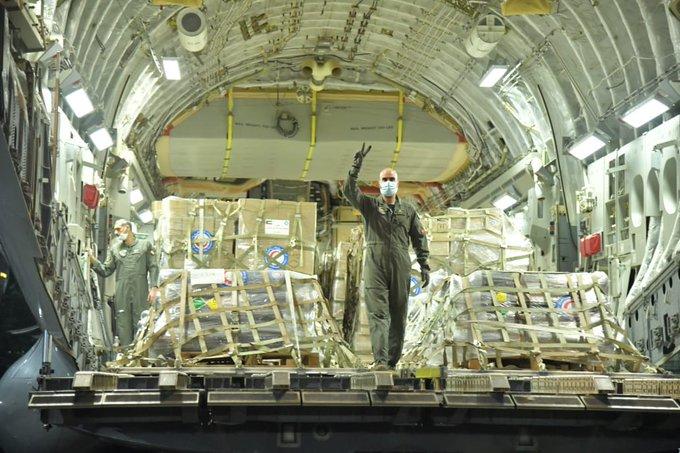 33333 1 - وصول أول طائرة عسكرية كويتية محملة بمساعدات عاجلة لمواجهة #كورونا إلى #الهند                    #العبدلي_نيوز