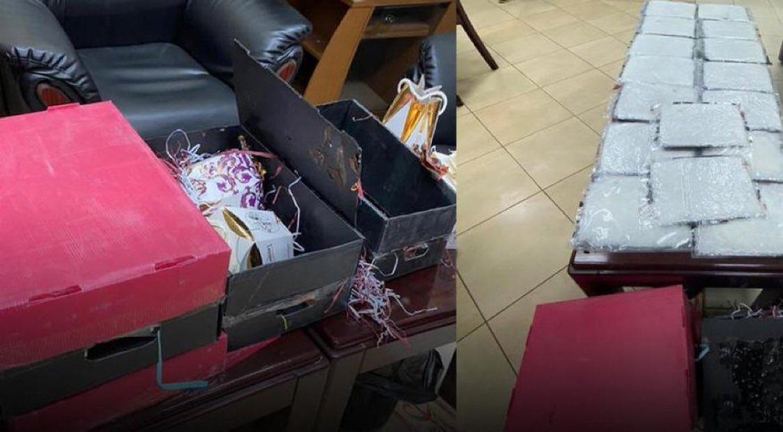 E4Ni egWUAAwN2B - إحباط إدخال 5.400 كيلو غرامات شبو ايرانية إلى البلاد في ألواح شوكولاتة - مخبأة في 5 طرود وتوقيف عربي تقدم لإستلامها