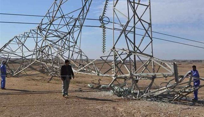 E5Yp1e6WYAMUuI  - العراق.. تفجير برجي كهرباء في الأنبار وأزمة انقطاع التيار تتفاقم.      #العبدلي_نيوز