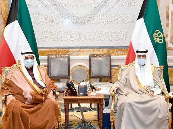 السمو يستقبل الشيخ ناصر المحمد. #العبدلي