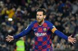 ميسي يستعيد ذكرى هدفه الأول مع برشلونة