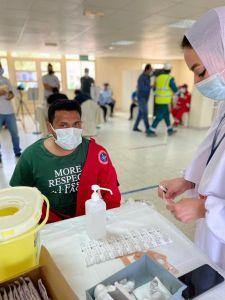 السند: تطعيم 4400 موظف في شركة مطاحن الدقيق والمخابز الكويتية.  #العبدلي_نيوز