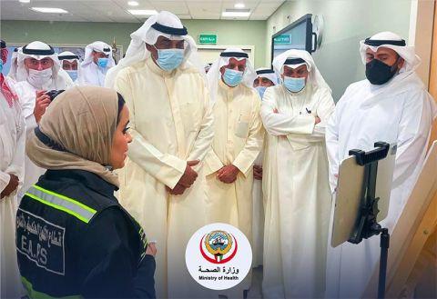 الجولة التفقدية لسمو رئيس الوزراء والوزراء على مستشفى الفروانية الجديد.     #العبدلي_نيوز