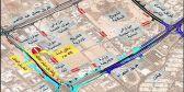 المرور : إغلاق مدخل ومخرج «الخدمة المدنية» على طريق المطار 45 يوما