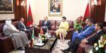 الغانم يبحث مع رئيس مجلس النواب المغربي العلاقات الثنائية