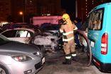 إخماد حريق امتد لـ 5 مركبات في السالمية.          #الكويت.     #العبدلي_نيوز