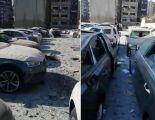 بالفيديو تلف وتدمير أكثر من 500 سيارة حديثة بسبب انفجار مرفأ بيروت