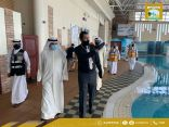 المنفوحي يتفقد أحد المعاهد الصحية في محافظة العاصمة للتأكد من تطبيق الاشتراطات الصحية